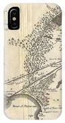 1785 Bocage Map Of Athens And Environs Including Piraeus In Ancient Greece IPhone Case