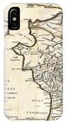 1786 Bocage Map Of Elis And Triphylia In Ancient Greece  IPhone Case