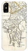 1786 Bocage Map Of Messenia In Ancient Greece IPhone Case