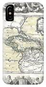 1788 Brion De La Tour Map Of Mexico Central America And The West Indies IPhone Case