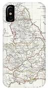 1794 Anville Map Of England In Ancient Roman Times IPhone Case