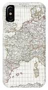 1794 Anville Map Of Europe In Late Roman Times IPhone Case