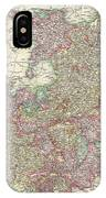 1799 Cary Map Of The Upper And Lower Rhine IPhone Case