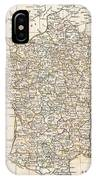 1799 Clement Cruttwell Map Of France In Departments IPhone Case