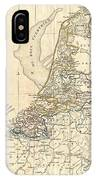 1799 Clement Cruttwell Map Of Holland Or The Netherlands IPhone Case