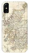 1799 Clement Cruttwell Map Of Scotland IPhone Case