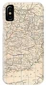 1799 Clement Cruttwell Map Of Spain And Portugal IPhone Case