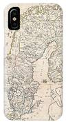 1799 Clement Cruttwell Map Of Sweden Denmark And Norway IPhone Case
