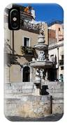 Another View Of An Old Unused Fountain In Taormina Sicily IPhone Case