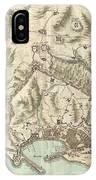 1800 Bardi Map Of Genoa Genova Italy  IPhone Case