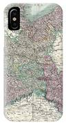 1801 Cary Map Of Upper Saxony Germany  Berlin Dresden IPhone Case