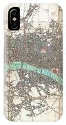 1806 Mogg Pocket Or Case Map Of London IPhone Case