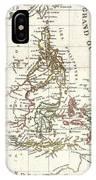 1810 Tardieu Map Of The East Indies Singapore Southeast Asia Sumatra Borneo Java IPhone Case