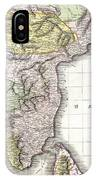 1814 Thomson Map Of India IPhone Case