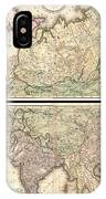 1820 Lizars Wall Map Of Asia IPhone Case