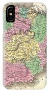 1827 Finely Map Of Spain And Portugal IPhone Case