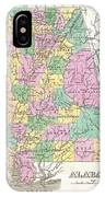 1827 Finley Map Of Alabama IPhone Case