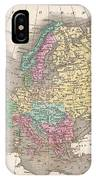 1827 Finley Map Of Europe IPhone Case