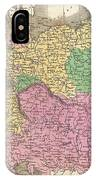 1827 Finley Map Of Germany IPhone Case