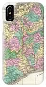 1827 Finley Map Of Ireland  IPhone Case