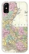 1827 Finley Map Of Louisiana IPhone Case