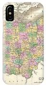 1827 Finley Map Of Ohio IPhone Case