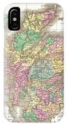 1827 Finley Map Of Scotland IPhone Case