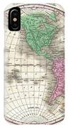 1827 Finley Map Of The Western Hemisphere IPhone Case