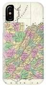 1827 Finley Map Of Virginia IPhone Case