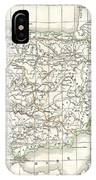 1832 Delamarche Map Of Spain And Portugal Under The Roman Empire  IPhone Case