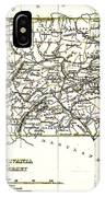 1835 Pennsylvania And New Jersey Map IPhone Case
