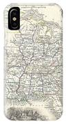 1851 Tallis And Rapkin Map Of The United States IPhone Case