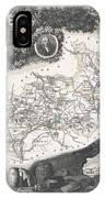 1852 Levasseur Map Of The Department Hautes Alpes France  IPhone Case