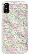 1855 Colton Map Of Arkansas IPhone Case