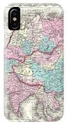 1855 Colton Map Of Asia IPhone Case