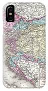 1855 Colton Map Of Austria Hungary And The Czech Republic IPhone Case