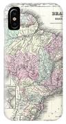 1855 Colton Map Of Brazil And Guyana IPhone Case