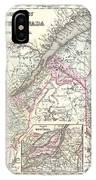 1855 Colton Map Of Canada East Or Quebec IPhone Case