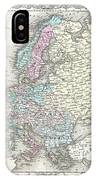 1855 Colton Map Of Europe IPhone Case