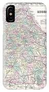 1855 Colton Map Of Georgia IPhone Case