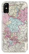 1855 Colton Map Of Hanover And Holstein Germany IPhone Case