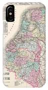 1855 Colton Map Of Holland And Belgium IPhone Case