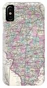 1855 Colton Map Of Illinois IPhone Case