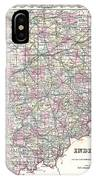 1855 Colton Map Of Indiana IPhone Case