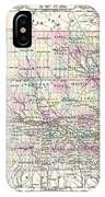 1855 Colton Map Of Iowa IPhone Case