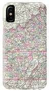 1855 Colton Map Of Kentucky And Tennessee IPhone Case
