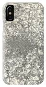 1855 Colton Map Of London IPhone Case