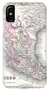 1855 Colton Map Of Mexico - Geographicus1855 Colton Map Of Mexico - Geographicus IPhone Case
