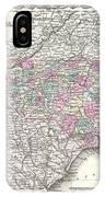 1855 Colton Map Of North Carolina IPhone Case