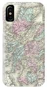 1855 Colton Map Of Scotland IPhone Case